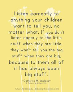 Listen to the Little Stuff