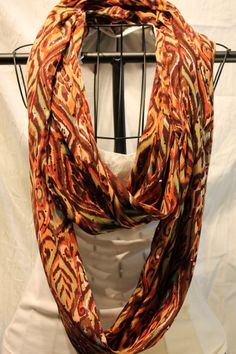 orange infinity scarf fall scarf Long and wide by ScarfLadyDesigns, $55.00