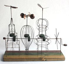 kinetic wire sculpture