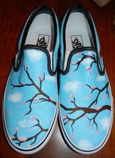 Custom Painted vans by DaniellexTeig, Custom Painted Shoes, Painted Vans, Painted Sneakers, Hand Painted Shoes, Custom Shoes, Vanz, Shoe Crafts, Kinds Of Shoes, Shoe Art
