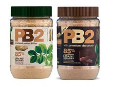 PB2 by Bell Plantations - Amazing! All natural with 85% less fat & cals. Mix with water or put in a smoothie.  SO yummie! http://www.bellplantation.com/products