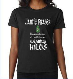 Outlander Inspired Jamie Fraser Black Ladies by ElmStreetTech