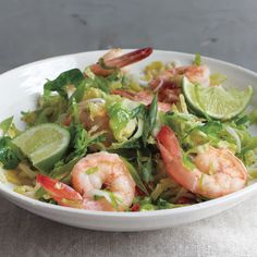 Brussels sprouts take well to stir-frying. Here, their sweet and earthy flavor is a good complement to shrimp.