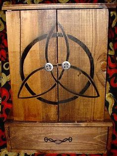 Wiccan Altar Cabinet   ... Chakras - Hand Made Altar Cabinets - Wiccan, Pagan, Egyptian, Celtic