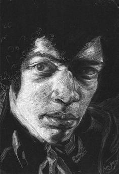 Desenho Hendrix by Bruna Berger, via Behance