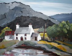 View cottage paintings by Beatrice Williams, a Welsh artist with international reputation for excellence.