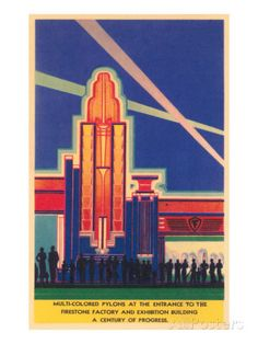 Art Deco Entrance, Chicago World's Fair Taidevedos