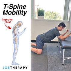 One of My FAVORITE T-Spine Mobs! - First give this a try Stand up Raise your hands overhead Lean as far back as you can Fitness Workouts, Fitness Motivation, Yoga Fitness, Health Fitness, Scoliosis Exercises, Posture Exercises, Back Exercises, Spine Health, Massage Therapy