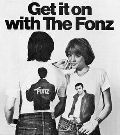 "The Fonz Tshirts! I had yellow Fonz knee socks that said ""AYYYYYYY""! LOL"