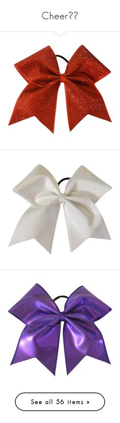 """""""Cheer??"""" by halsey666 ❤ liked on Polyvore featuring accessories, hair accessories, black, ties & elastics, hair bow accessories, red bow hair accessories, glitter hair accessories, red hair accessories, hair bows y pearl hair accessories"""