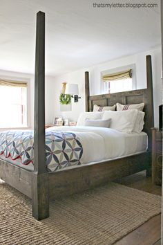 simple rustic modern wood canopy bed easy to make plans diy build