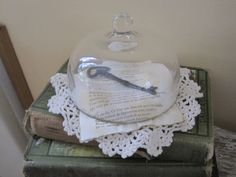 display vintage doilies | laid a vintage doily on the bottom of the dish. Then I added a ...