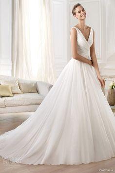 pronovias wedding dresses 2014 atelier yesel sleeveless princess ball gown