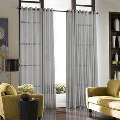 Curtainworks Soho Voile Sheer Grommet Panel, 59 by Winter White Voile Curtains, Sheer Curtain Panels, Panel Curtains, Bedroom Curtains, Silk Drapes, Curtains Living, Drapery, Soho, Fancy