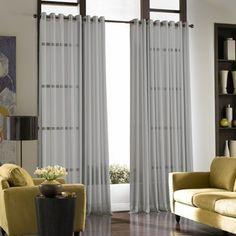Curtainworks Soho Voile Sheer Grommet Panel, 59 by Winter White Voile Curtains, Sheer Curtain Panels, Window Curtains, Bedroom Curtains, Silk Drapes, Curtains Living, Room Window, Drapery, Soho