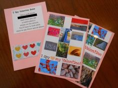 I spy valentine cards.. great for handing out to the neighbors!