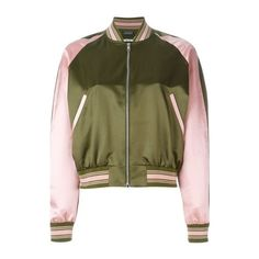 ALEXANDER McQUEEN Embroidered Bomber Jacket found on Polyvore featuring outerwear, jackets, green, alexander mcqueen, green bomber jacket, stand up collar jacket, embroidered jacket and bomber style jacket