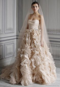 Monique Lhuillier Wedding Dresses Spring 2012 Bridal Collection | Wedding Inspirasi