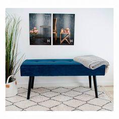 Smuk blå bænk  #bænk #blåbænk #indretning #interior #interiør #interiørbutikken