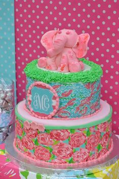 Gorgeous cake at a Lilly Pulitzer birthday party! See more party planning ideas… Gorgeous Cakes, Amazing Cakes, A Little Party, 1st Birthday Parties, 14th Birthday, Birthday Cakes, Birthday Ideas, Occasion Cakes, Cute Cakes