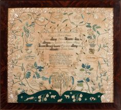 Sarah H. James, Elizabeth Passmore School,East Goshen, Chester County,Pennsylvania, 1820