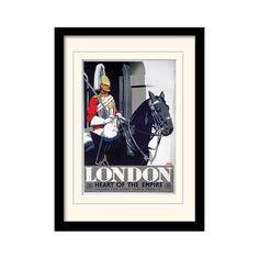"""London """"3"""" Mounted Framed Vintage Advertisement"""
