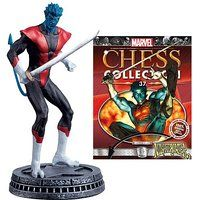 X-Men Nightcrawler White Pawn Chess Piece with Magazine