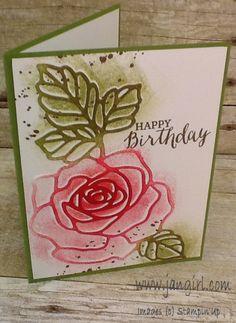 Stampin' Up Rose Wonder Birthday card  see my blog for more details: www.jangirl.com