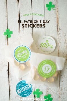 St Patrick's Day free printables stickers