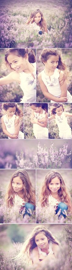 Cute girl, natural light, love these pictures! #photography #lavender