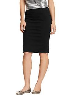 Women's Jersey Pencil Skirts | Old Navy. Saw this skirt at Old Navy today, I think I will definitely add it to my closet. Fabric wasn't too thin, which I hate in a skirt, and it comes right above the knee, which is EXACTLY what I have been looking for.
