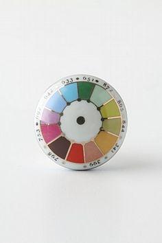 Pantone color swatch door handle - LOVE.
