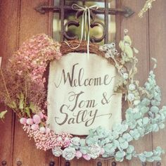 wedding welcome boad♡