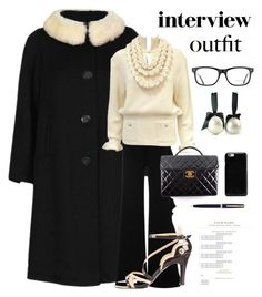 """""""60 Second Style"""" by kotnourka ❤ liked on Polyvore featuring Chanel, Lilli Ann, Alexis, Karl Lagerfeld, Maison Margiela, Burberry, Montblanc, jobinterview and 60secondstyle"""