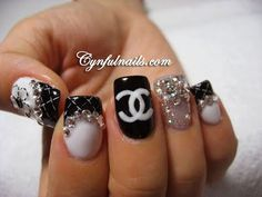 chanel is of course a must do! #nails #nail_art #chanel
