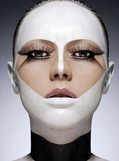 Image result for white mask make up