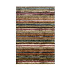 Dash and Albert Rugs Tufted Brindle Stripe Spice Area Rug