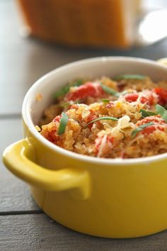 One-Pan Mediterranean Quinoa -- I halved the amount of onion and it was perfect!