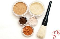 Sobe Botanicals on etsy makes a great mineral make up, and excellent oil control no shine finishing powder.