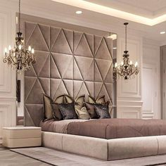 Luxurious bedrooms - 50 Luxury Bedroom Design Ideas that you Definitely want for your Dream Home – Luxurious bedrooms Luxury Bedroom Design, Master Bedroom Design, Home Bedroom, Home Interior Design, Bedroom Decor, Bedroom Designs, Bedroom Lighting, Modern Luxury Bedroom, Bedroom Ideas