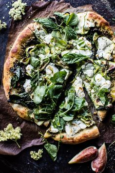 Garden Greens Goddess Pizza - The surprisingly delicious, clean those veggies out of your fridge before they go bad, pizza!