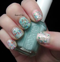 funfetti nails via lacquered lover. fun spring situation