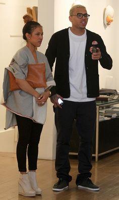 Karrueche Tran & Chris Brown (love them and their friends, their styles & genuine/sweet/cool personalities)