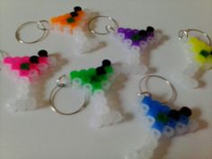 Martini Perler Sprite Wine Glass Charms by Good Golly Mister!