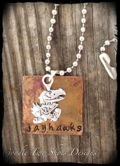 Kansas Jayhawks Charm Necklace, via Etsy.