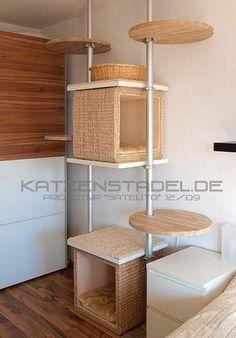 Unsere Kratz- und Kletterbäume - Spielen, Klettern, Schlafen und do it yourself - Katzenstadel.de