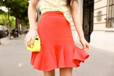 Fluted skirt - cute for spring!