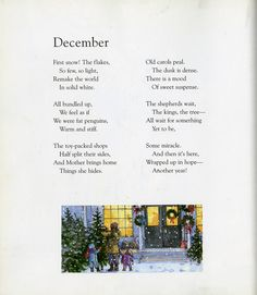 "Find ""September"" in A Child's Calendar , a collection of twelve of John Updike's poems that describes a child's journey through the se..."