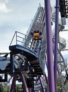 Bizarro - Six Flags Great Adventure (Jackson, New Jersey, United States) Six Flags Great Adventure, Greatest Adventure, Hurricane Harbor, Amusement Park Rides, Roller Coasters, Medusa, New Jersey, Scream, Fun Stuff