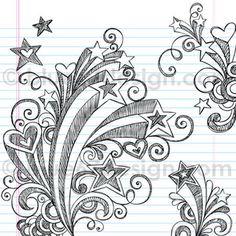 Starburst Back to School Sketchy Notebook Doodles Illustration by blue67design by blue67design, via Flickr